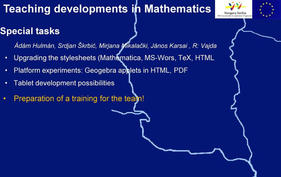 (Mathematica, MS-Wors, TeX, HTML Platform experiments: Geogebra applets in