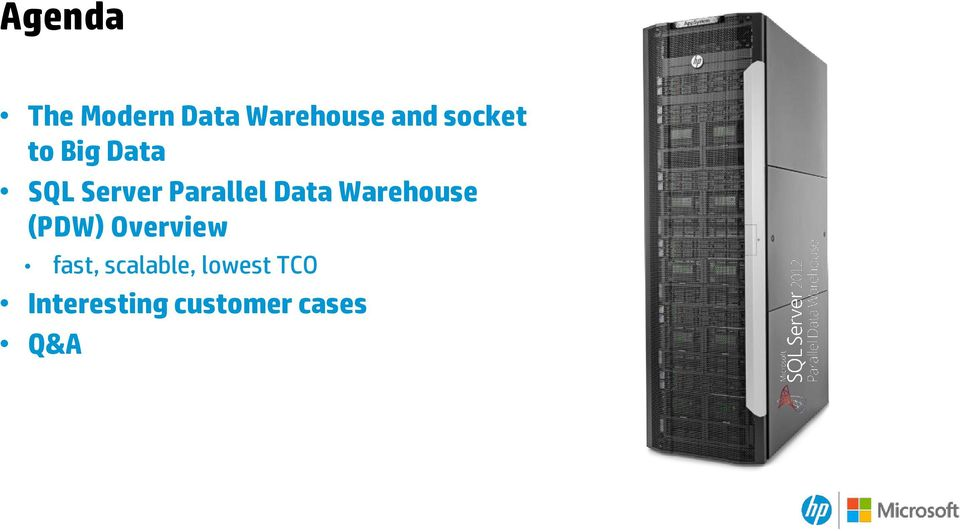 Data Warehouse (PDW) Overview fast,