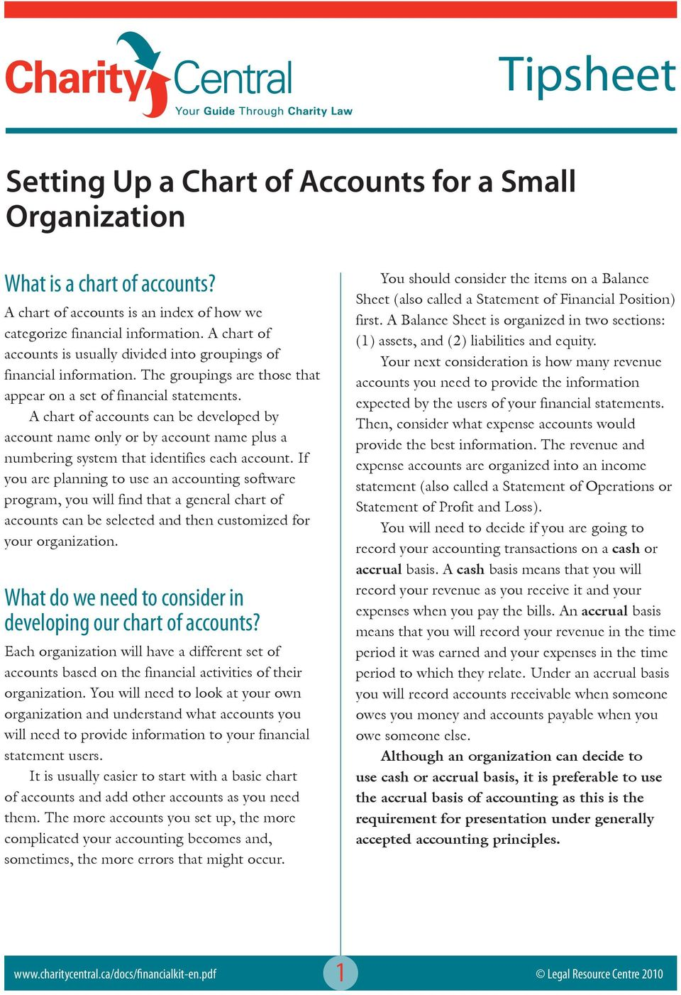 A chart of accounts can be developed by account name only or by account name plus a numbering system that identifies each account.