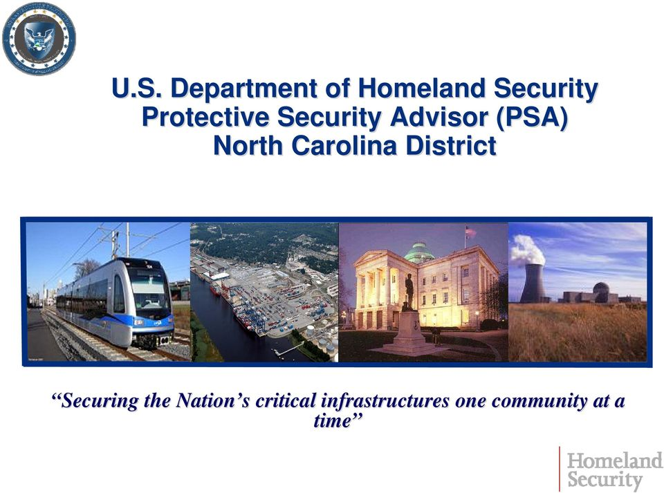 Carolina District Securing the Nation s s