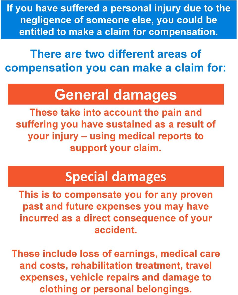 of your injury using medical reports to support your claim.