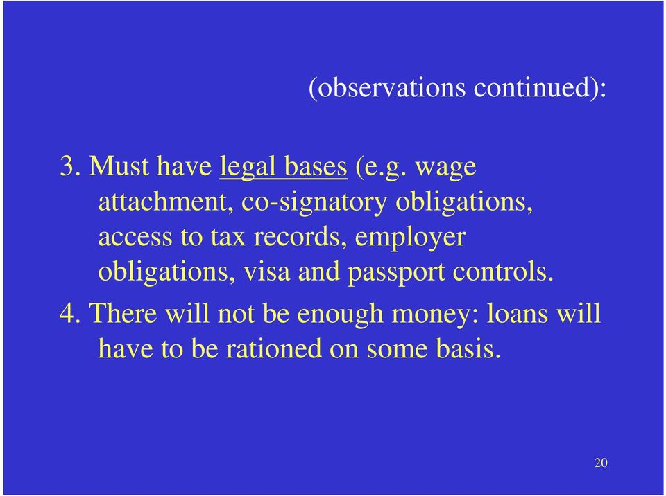wage attachment, co-signatory obligations, access to tax