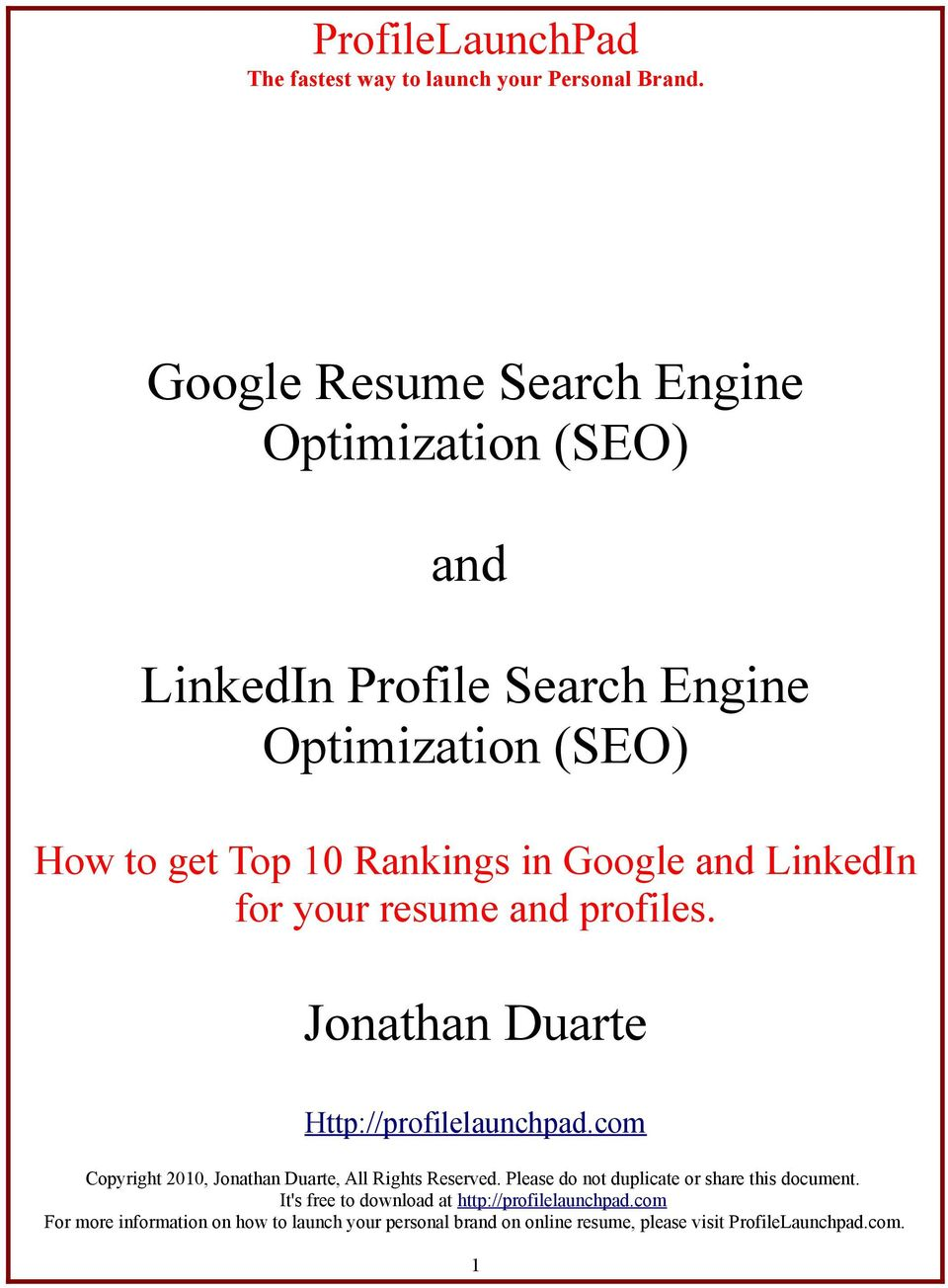 get Top 10 Rankings in Google and LinkedIn for your