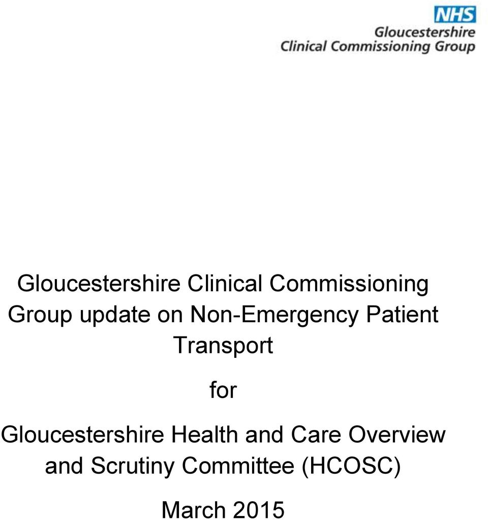 Transport for Gloucestershire Health and
