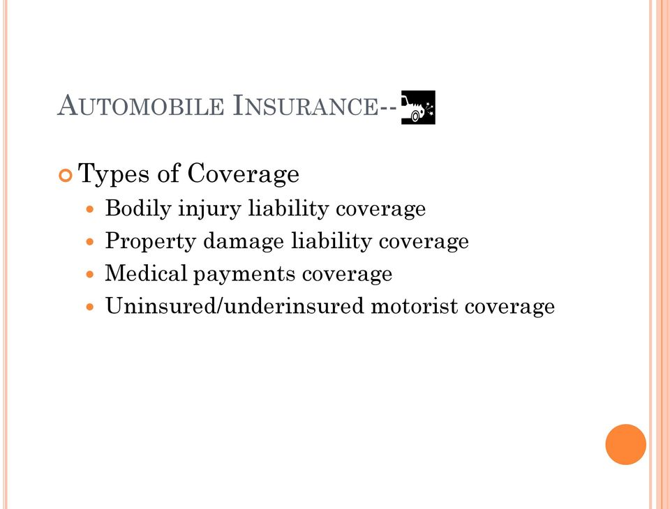 damage liability coverage Medical payments
