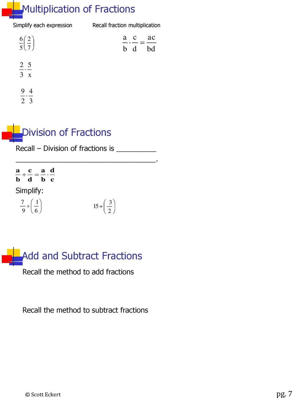 fractions is.