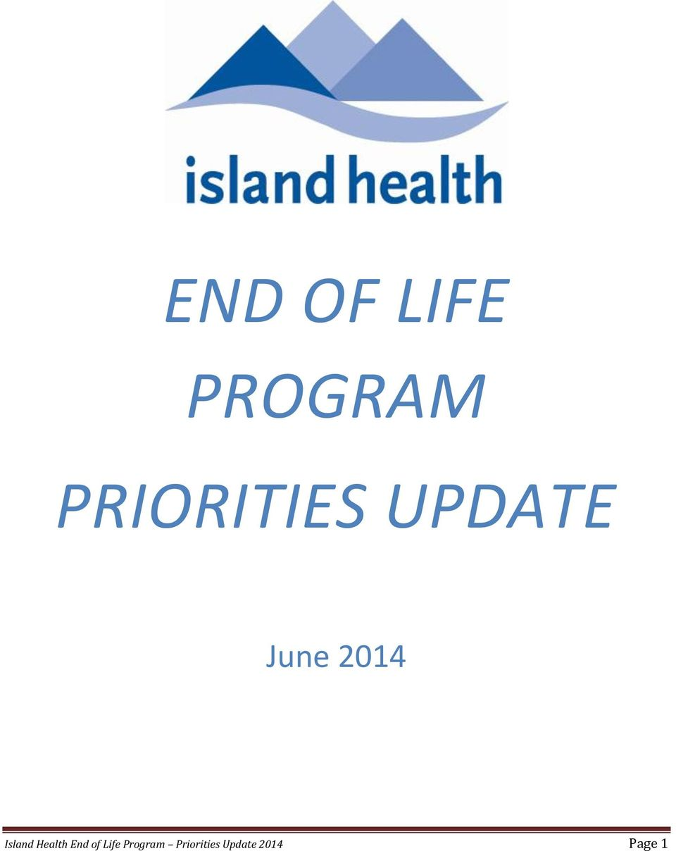 Island Health End of Life