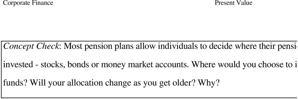 or money market accounts.