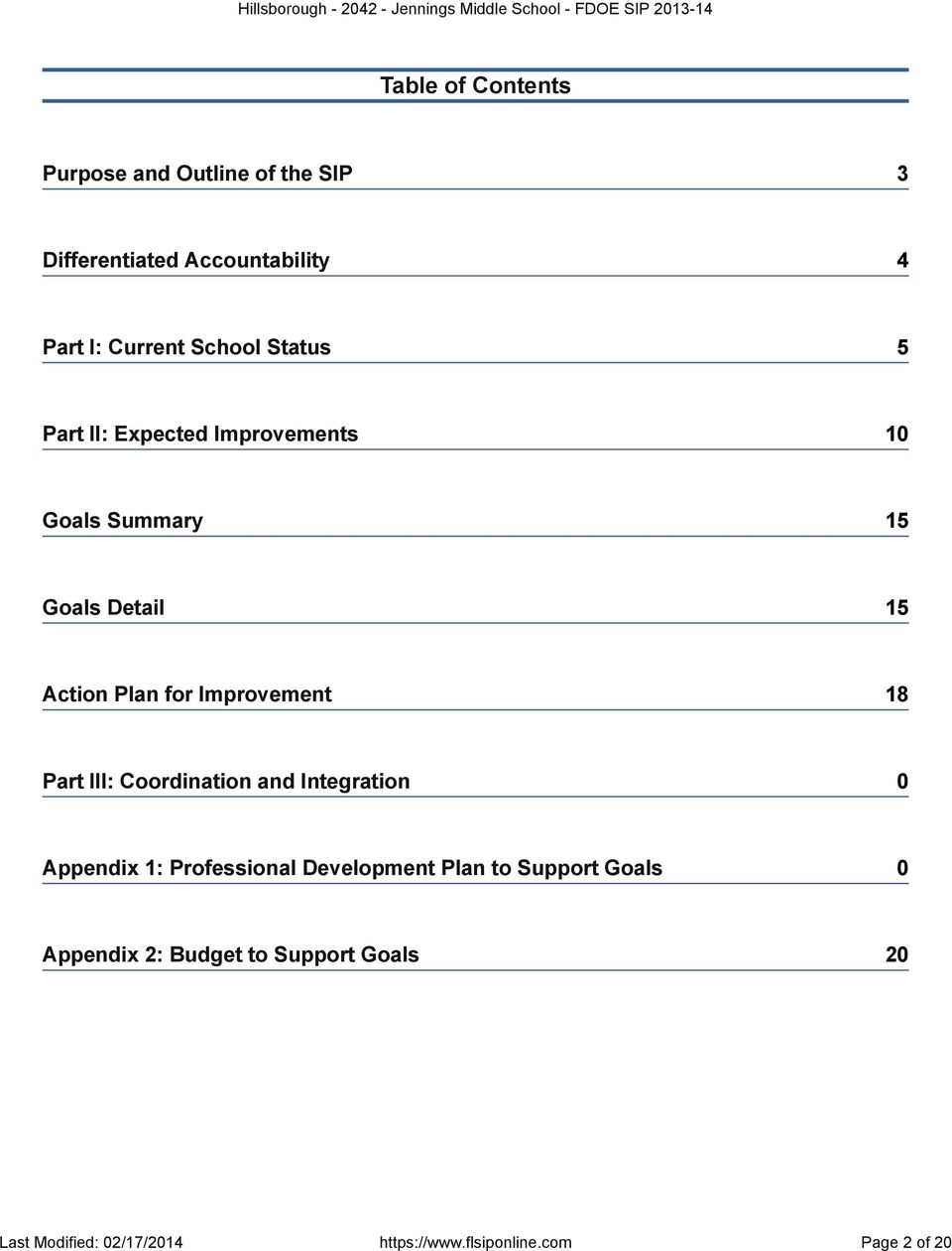Improvement 18 Part III: Coordination and Integration 0 Appendix 1: Professional Development Plan to