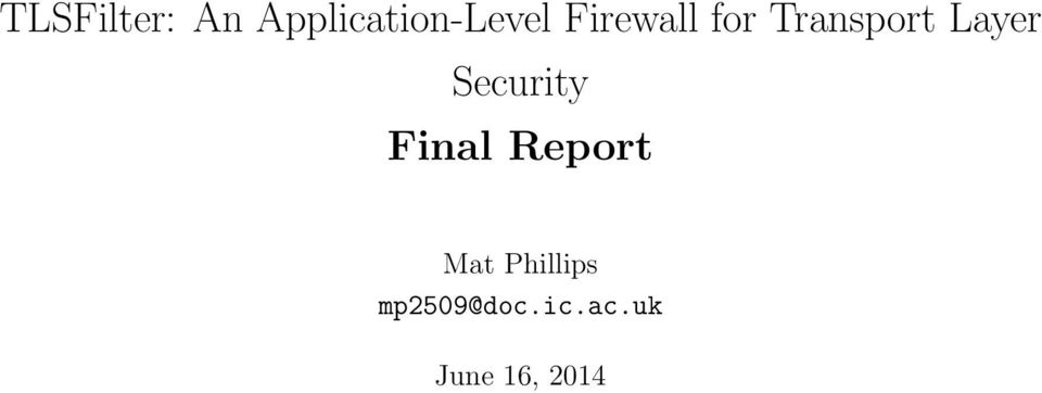 Security Final Report Mat