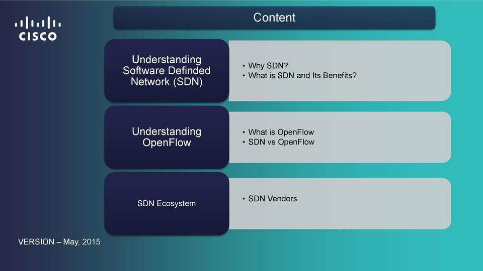 Understanding OpenFlow What is OpenFlow SDN vs