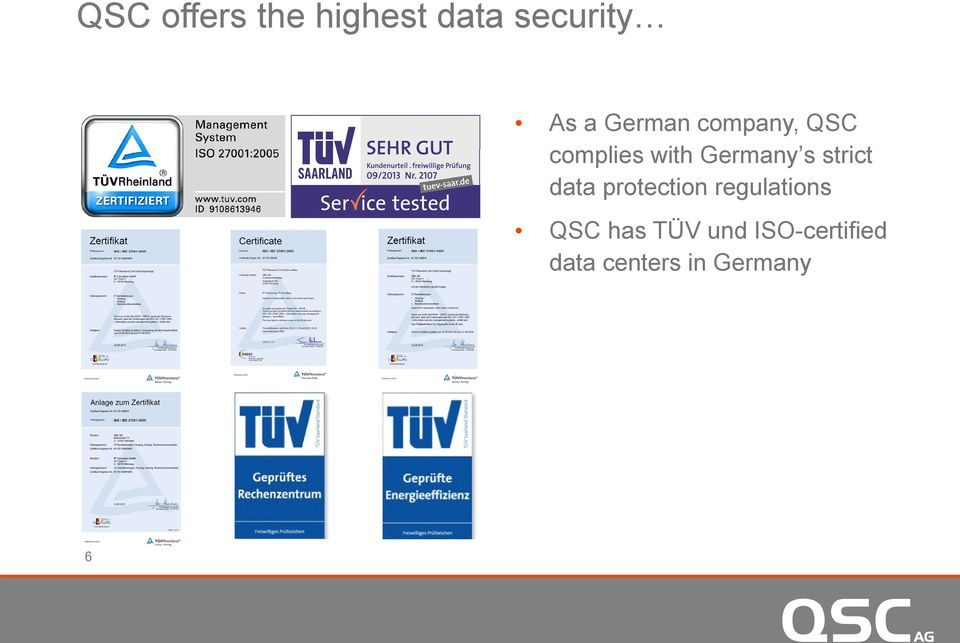 strict ti t data protection regulations QSC