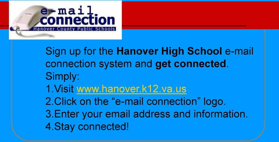 hanover.k12.va.us 2.Click on the e-mail connection logo.