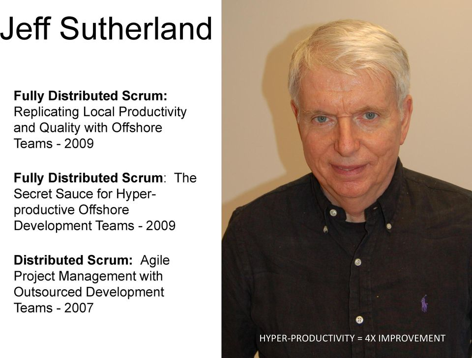 Hyperproductive Offshore Development Teams - 2009 Distributed Scrum: Agile