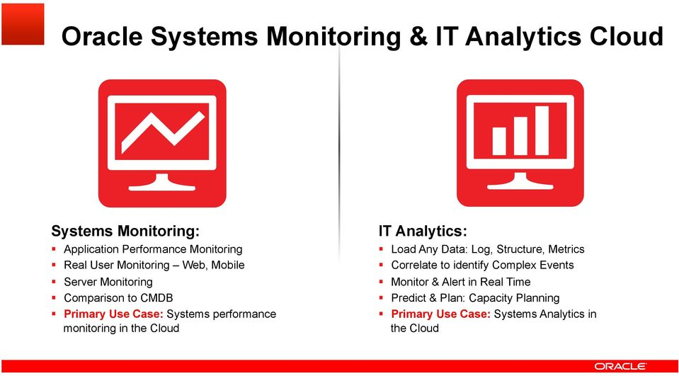 monitoring in the Cloud IT Analytics: Load Any Data: Log, Structure, Metrics Correlate to identify Complex