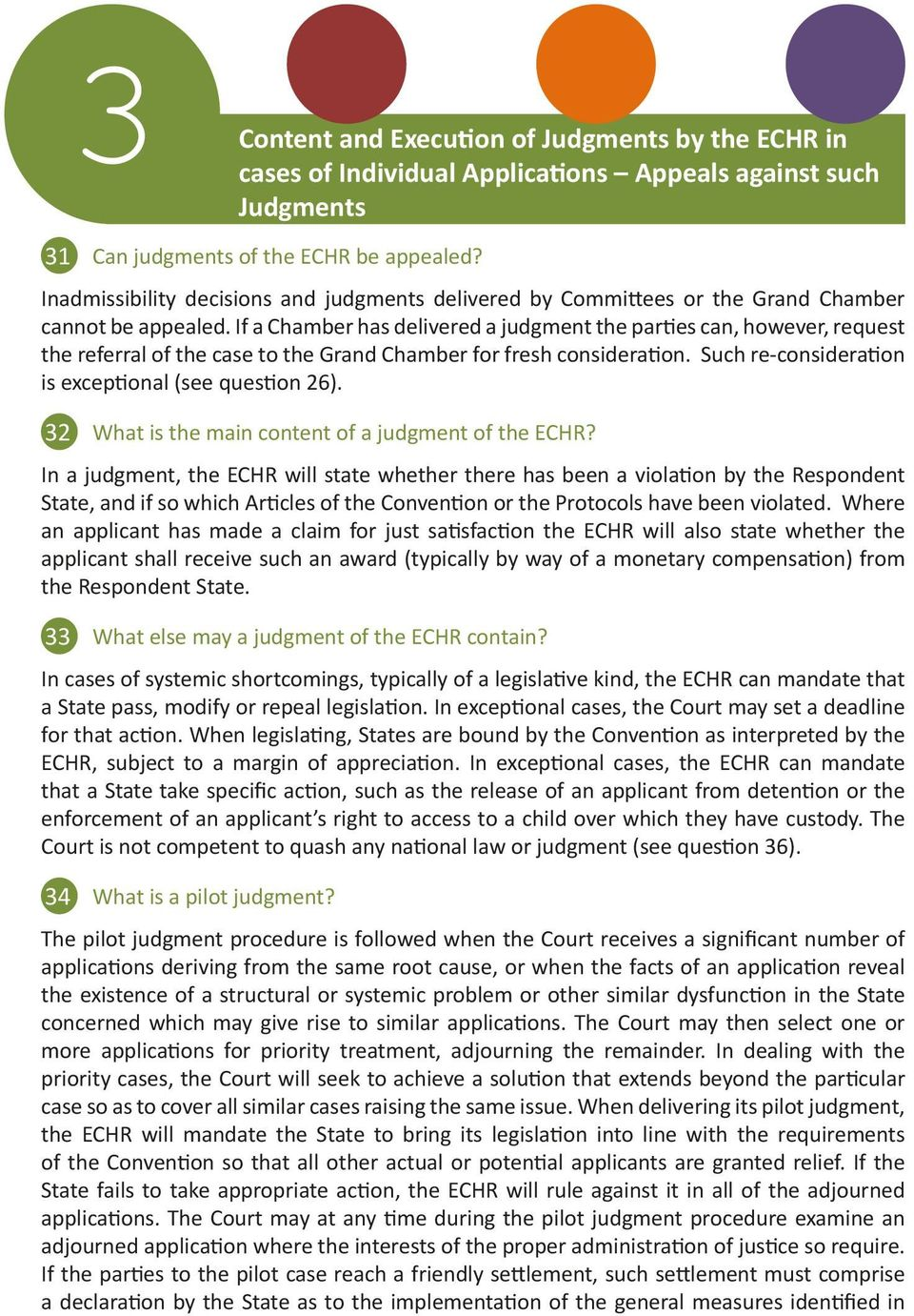 What is the main content of a judgment of the ECHR?