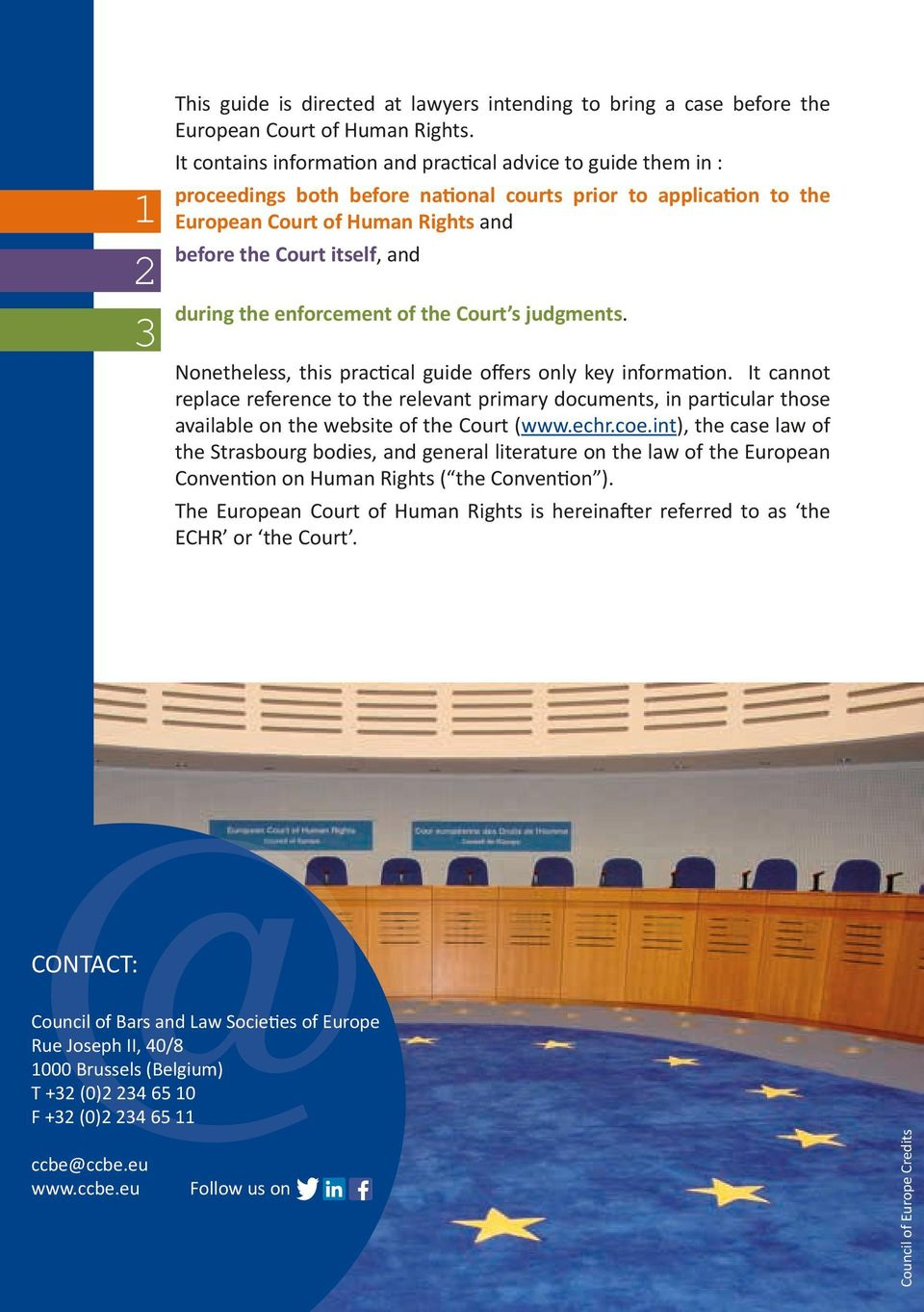 during the enforcement of the Court s judgments. Nonetheless, this practical guide offers only key information.