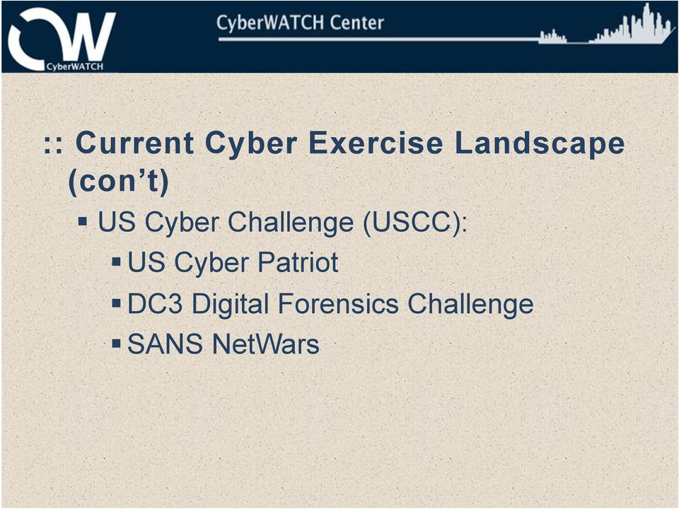 Challenge (USCC): US Cyber