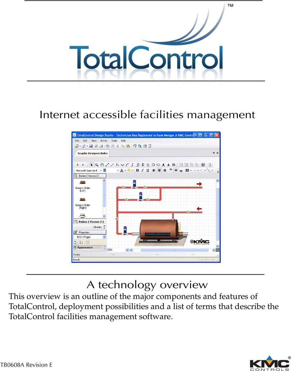 of TotalControl, deployment possibilities and a list of terms