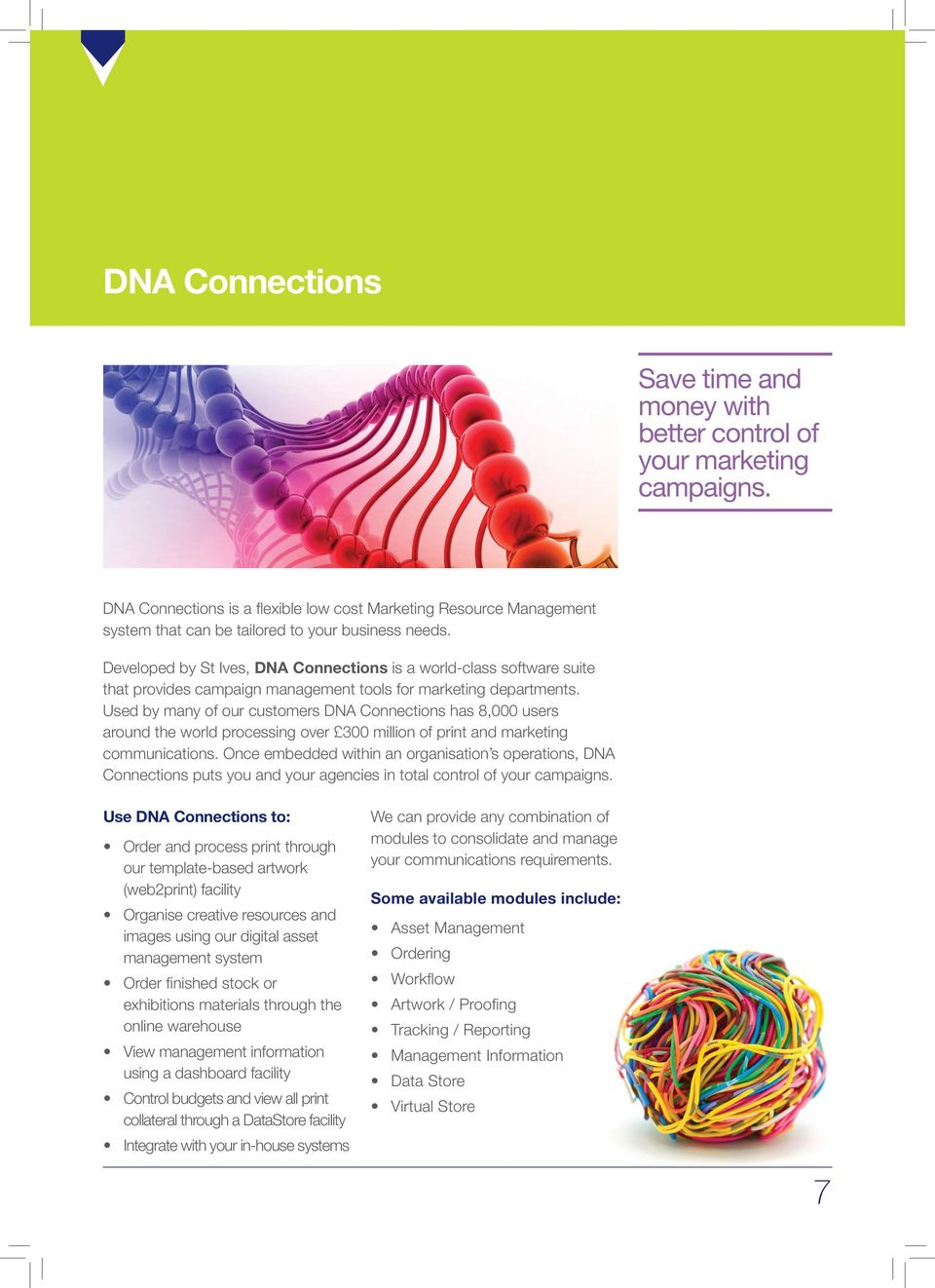 Developed by St Ives, DNA Connections is a world-class software suite that provides campaign management tools for marketing departments.