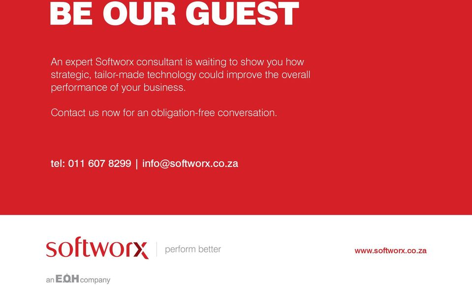 your business. Contact us now for an obligation-free conversation.