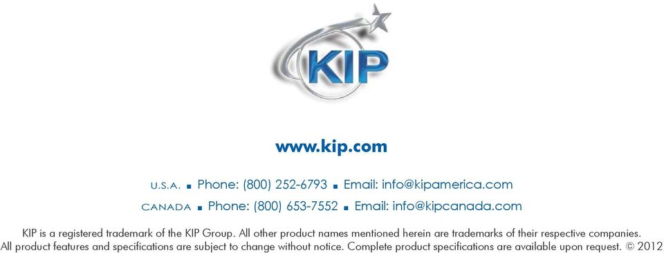 com KIP is a registered trademark of the KIP Group.