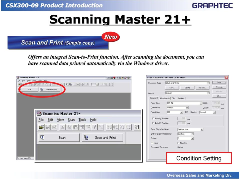 After scanning the document, you can have scanned