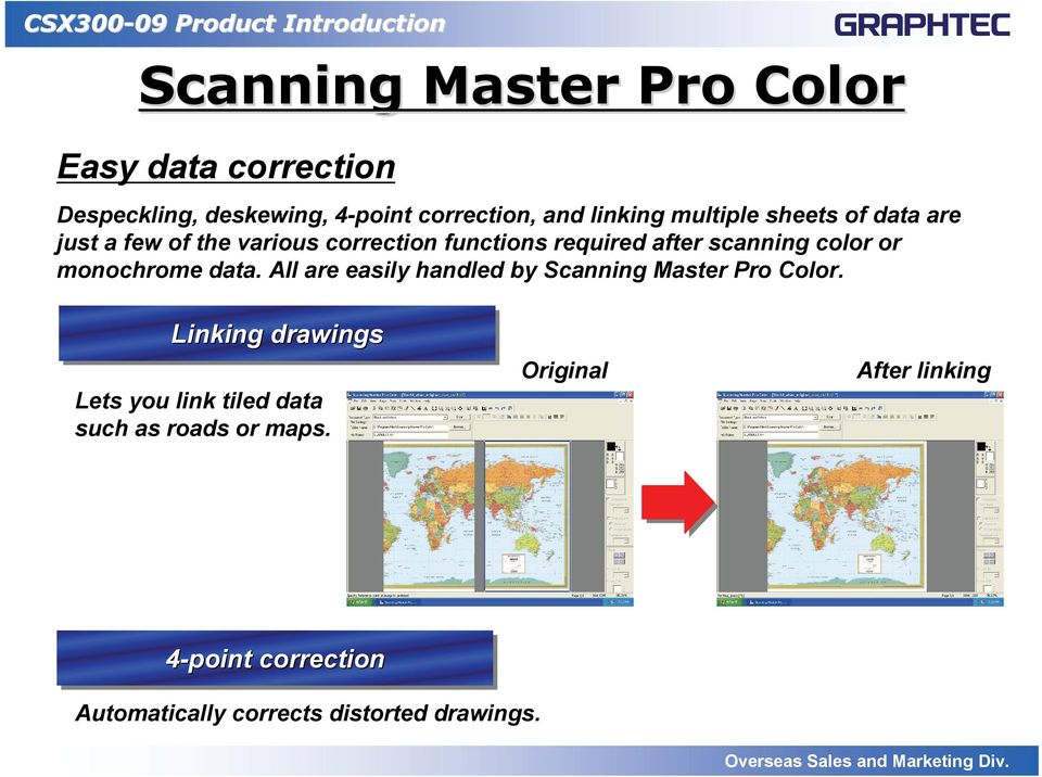 monochrome data. All are easily handled by Scanning Master Pro Color.