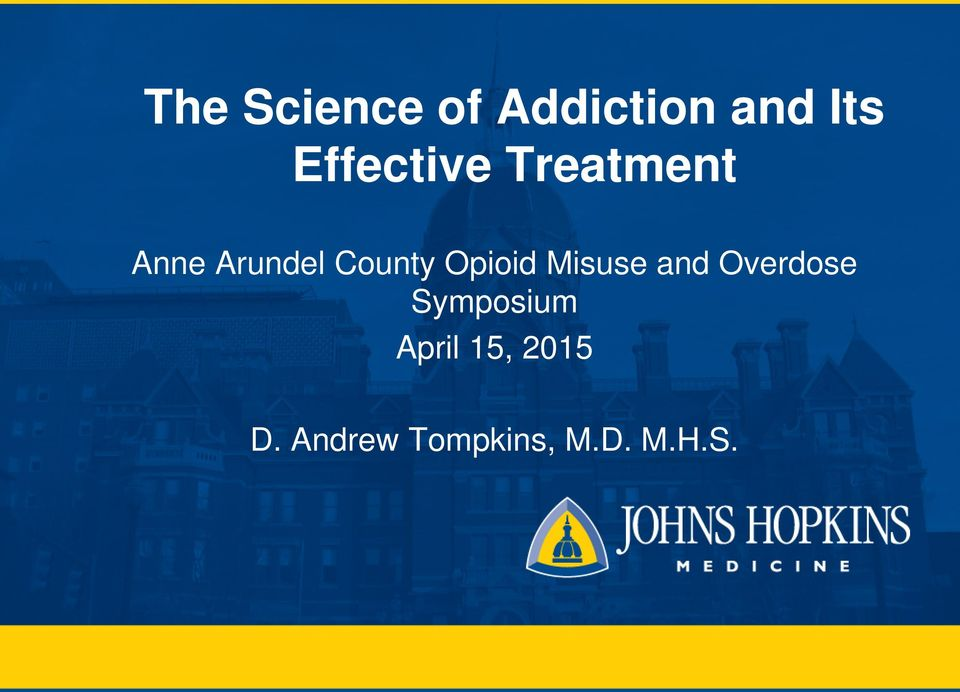 County Opioid Misuse and Overdose