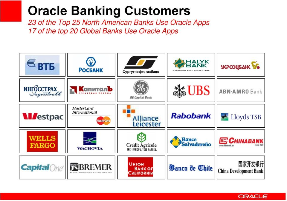 Oracle Apps 17 of the top 20 Global