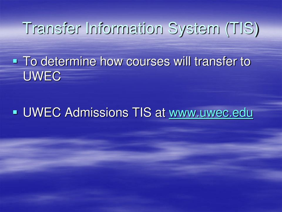courses will transfer to
