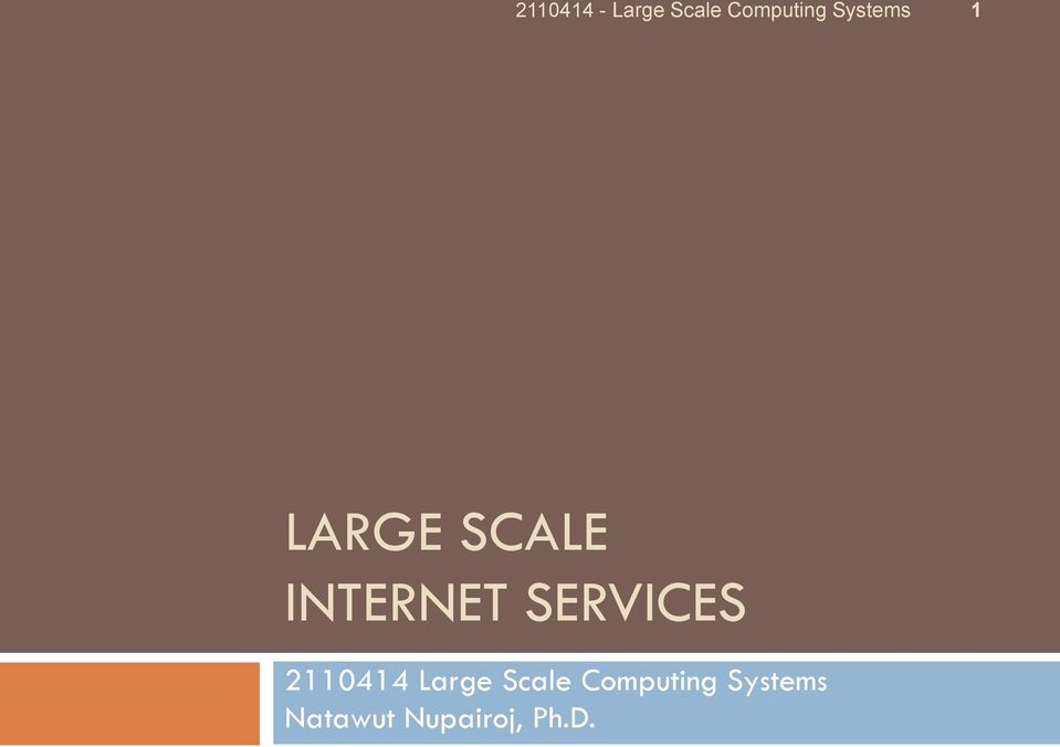 Scale Computing Systems