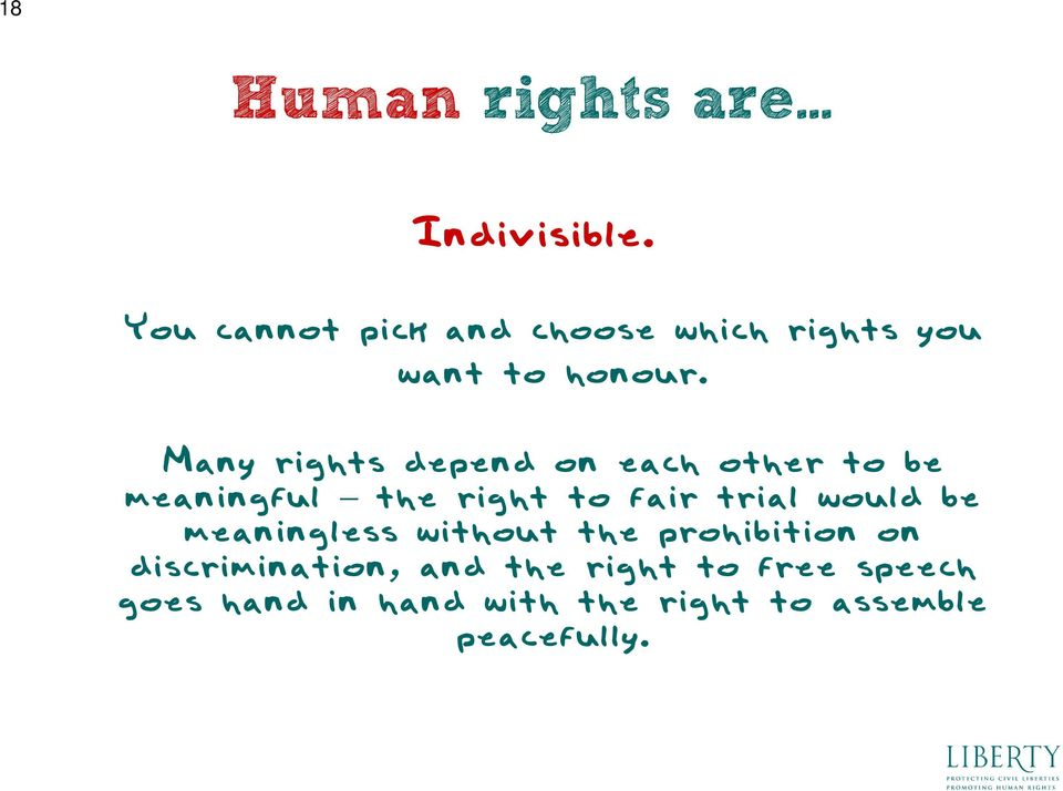 Many rights depend on each other to be meaningful the right to fair trial