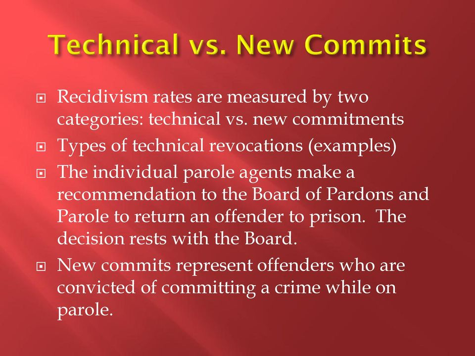make a recommendation to the Board of Pardons and Parole to return an offender to prison.