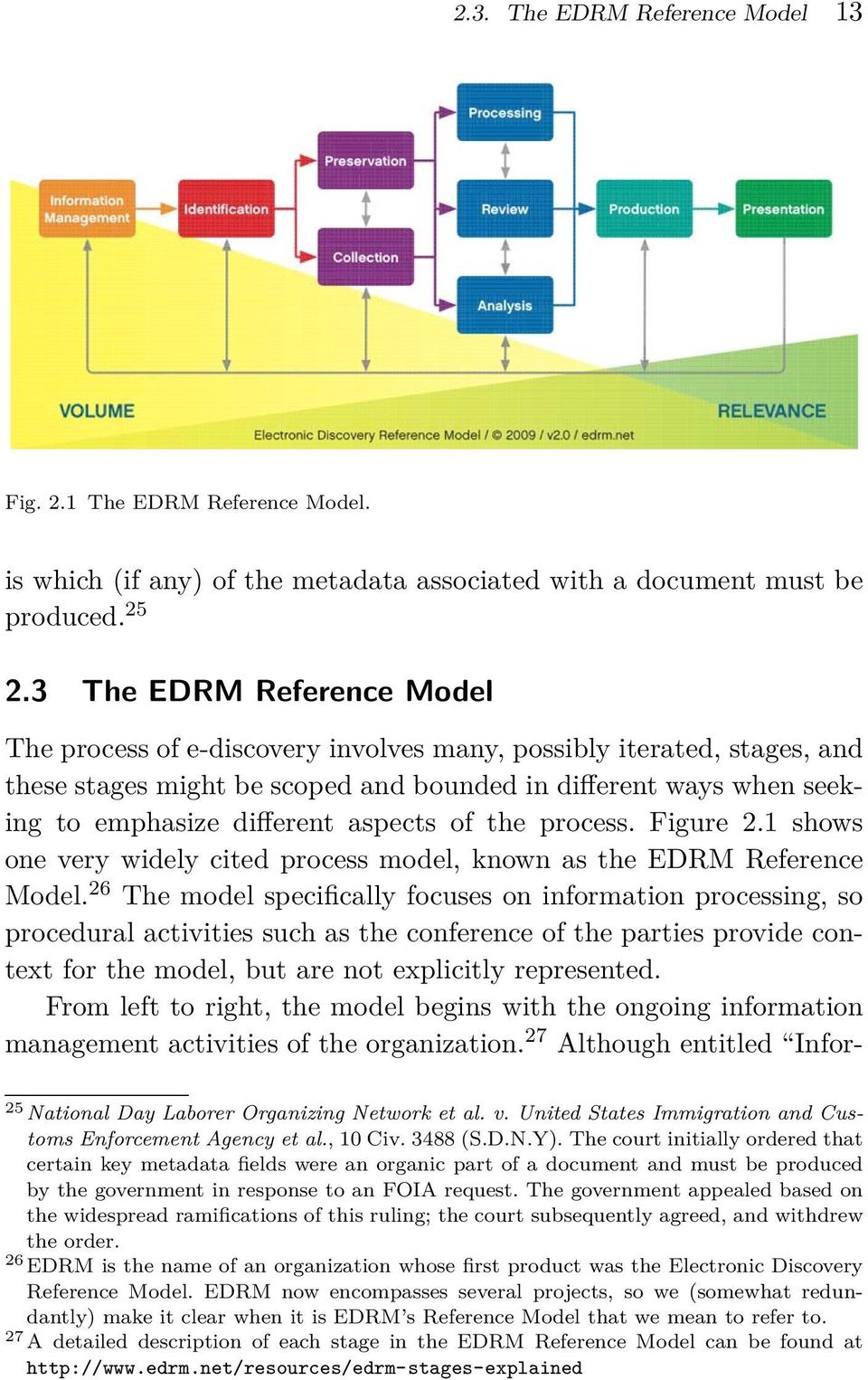 aspects of the process. Figure 2.1 shows one very widely cited process model, known as the EDRM Reference Model.