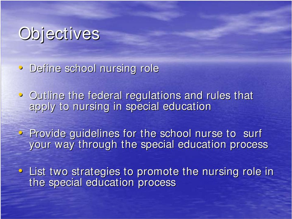 the school nurse to surf your way through the special education process