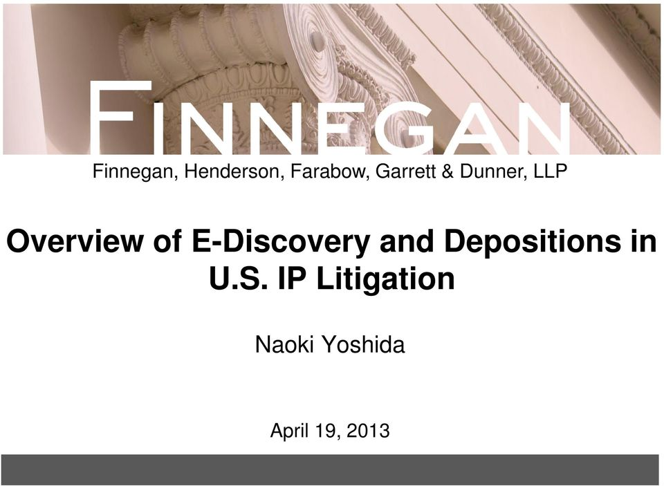 E-Discovery and Depositions in U.S.