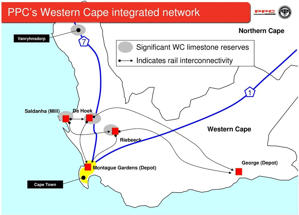 rail interconnectivity Northern Cape 1 Saldanha (Mill) De
