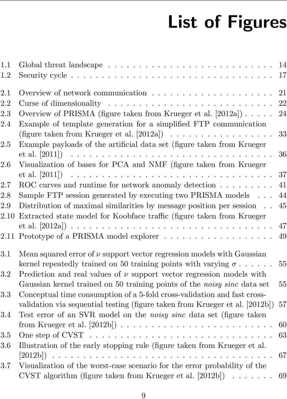 4 Example of template generation for a simplified FTP communication (figure taken from Krueger et al. [2012a])................. 33 2.
