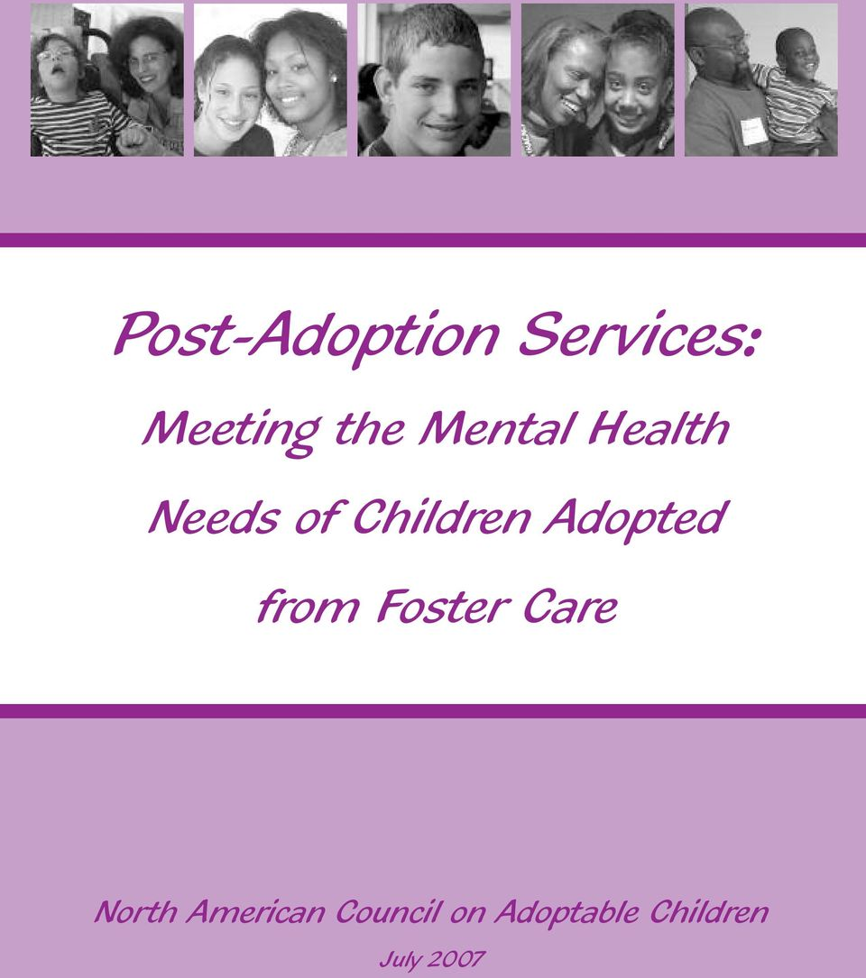 Adopted from Foster Care North