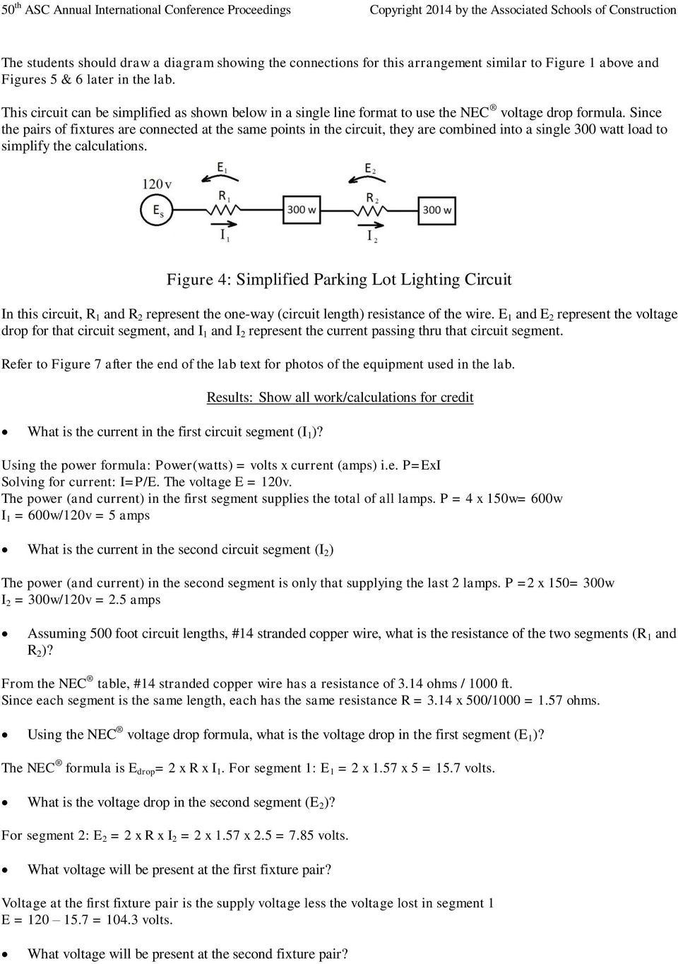 An electrical lab exercise on voltage drop pdf since the pairs of fixtures are connected at the same points in the circuit they keyboard keysfo Images