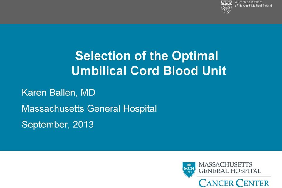 Cord Blood Unit