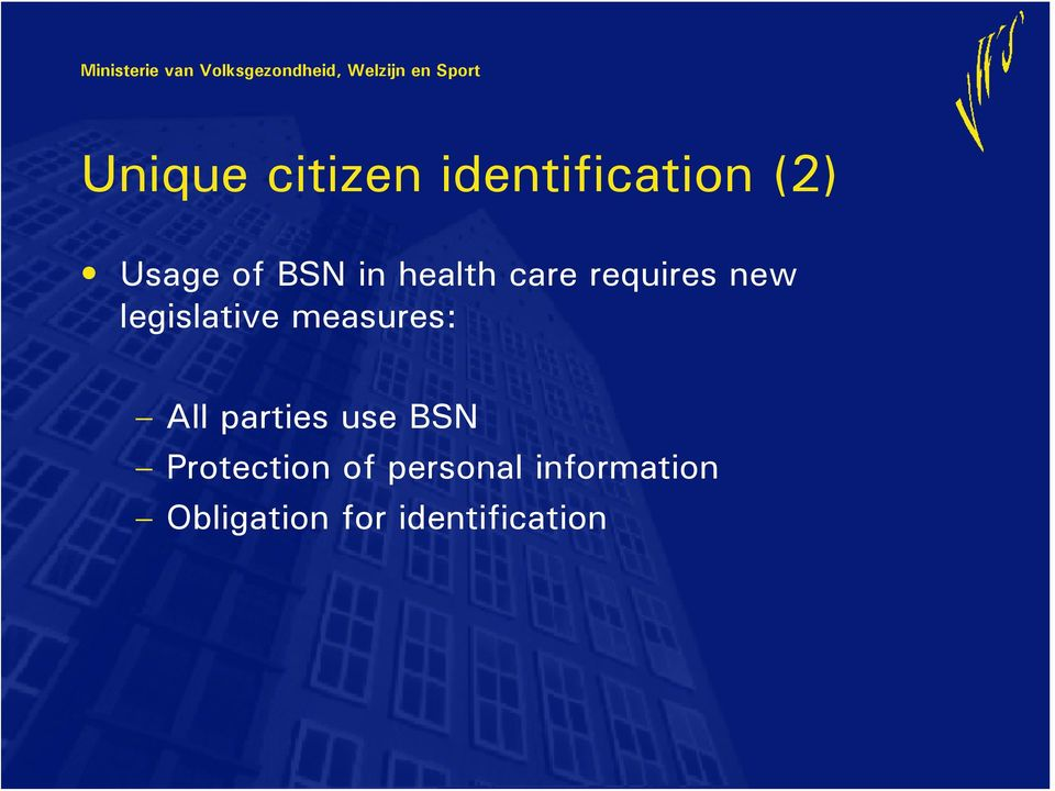 measures: All parties use BSN Protection of