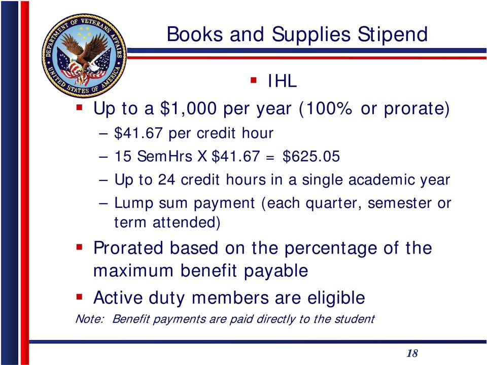 05 Up to 24 credit hours in a single academic year Lump sum payment (each quarter, semester or
