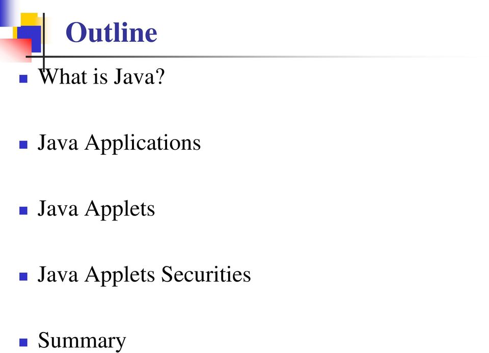 Java Applets Java