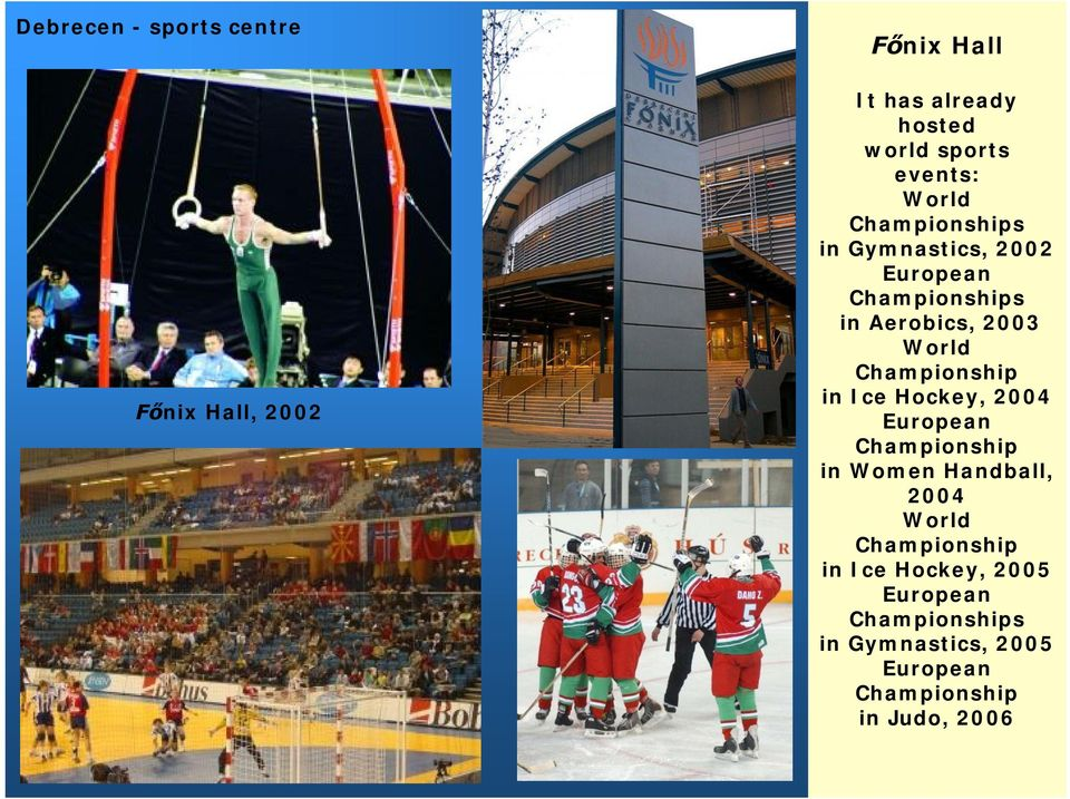 Championship in Ice Hockey, 2004 European Championship in Women Handball, 2004 World