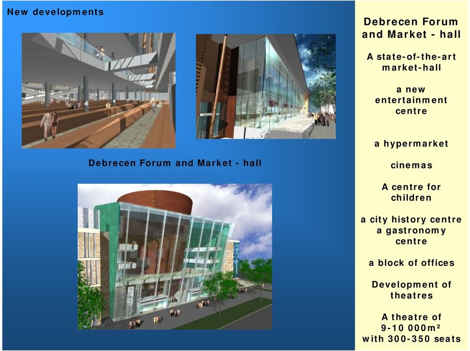 Market - hall cinemas A centre for children a city history centre a