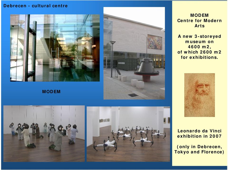 2600 m2 for exhibitions.