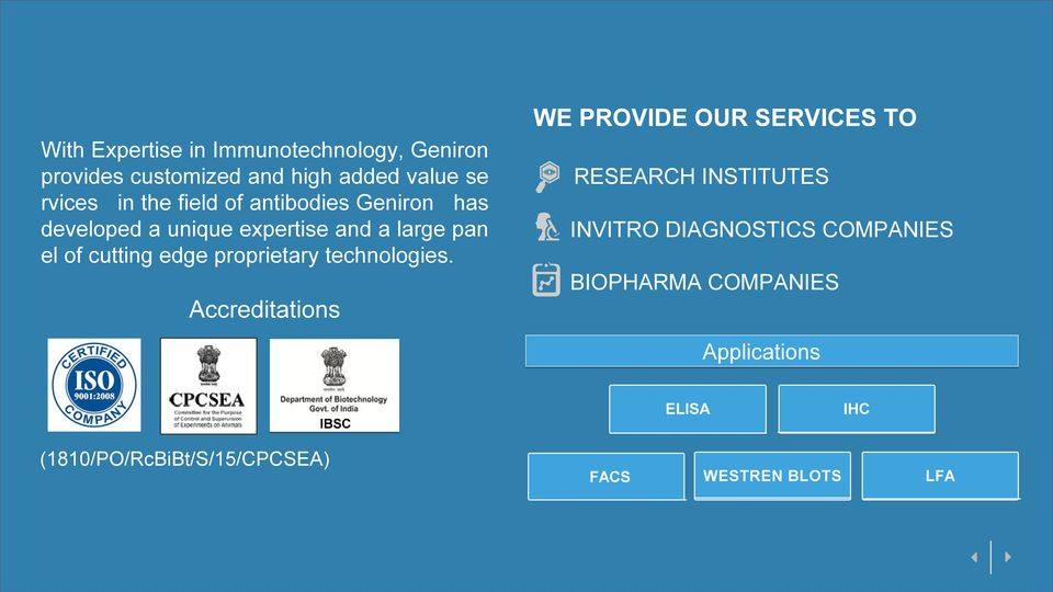 expertise and a large pan INVITRO DIAGNOSTICS COMPANIES el of cutting edge proprietary technologies.