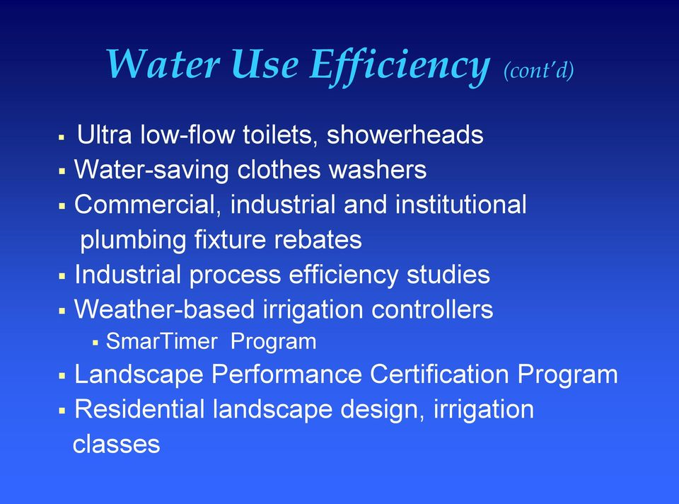 process efficiency studies Weather based irrigation controllers SmarTimer Program